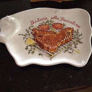 ceramic serving platter bistecca alla florentina