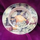 serving plate cheese dish multicolored by Kathleen Parr Mckenna