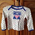 Roxy Teenie Wahine girl long sleeve floral top size medium (5)
