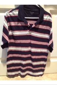Navy Blue Striped Shirt Size Large By Footaction