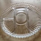 Glass Serving Dish With Divided Food Sections