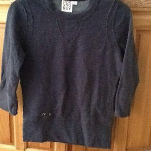Roxy Womens Grey Sweatshirt Size Small/P/CH
