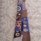 Mens tie by Dimoda hand made multicolored