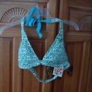 Women's Roxy Turquoise print Bikini top size large