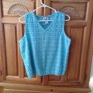 lily Pulitzer turquoise v neck sleeveless knit top size extra large