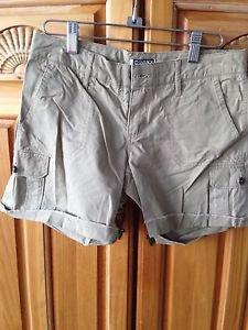 Womens Tan Frayed Hem Shorts by Roxy Size 1
