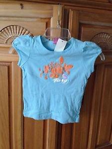 Roxy Teenie Wahine girl blue top size medium