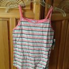 roxy girl striped pink top size small