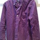 Nautica A Bit Trimmer Plaid Button Down Shirt Mens Size Small