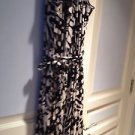 Super Soft Sleeveless Full Length Dress Size Extra Large Black And Tan By Cupio