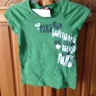 roxy girl green top size medium
