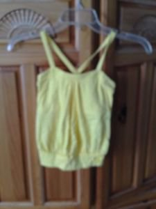 roxy girl yellow camisole top size small