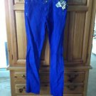 Womens skinny jeans size 7 by volcom Royal blue