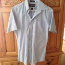 Mens blue short sleeve shirt wrinkle free size 15.5 by barrington