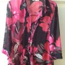 Hawaiian Pink Blouse By Erin London Size Medium