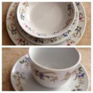 One Cordon Bleu BIA 5 piece place setting flowered china design (16 available)