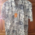 Mens Quiksilver waterman collection angler short sleeve shirt size Large
