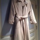 Beautiful Womans Beige Belted Coat Size Large By Aquamates