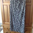 Womens Full Length Skirt Animal Print With Gold Accent Material Size Small
