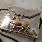 Exquisite Metal Handbag With Horse Decoration And Soft Shoulder Strap
