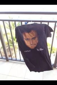 Black Size Large T-Shirt Phil Collins No Jacket Required American Tour 1985