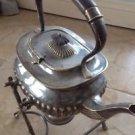 Rr Sheffield Silver Plate Teapot, Stand, Propane Gel Holder