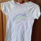 roxy girl surfer at heart short sleeve top size large