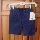 Girls Navy Pin Stripe Shorts Size Medium by Roxy Teenie Wahine
