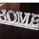 Wooden Home Free Standing Sign Turquoise Marblized Colore