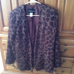 Animal Print Jacket By Designer Russell Kemp Size 10