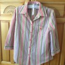 Womens Striped Multicolored Colored Blouse Size Medium by Napa Valley