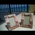 Set Of 2: Teddy Bear Ceramic Picture Frames