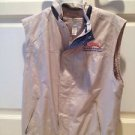 Sleeveless Tan Zippered Pocketed Jacket Vest Size Medium By North End