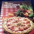 whirlpool micro menus cookbook hardcover