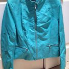 Turquoise Jacket Leather Touch The Perfect Leather Alternative Size Extra Large