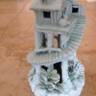 """tropical paradise treehouse approximately 9"""" x 6"""" turquoise colored centerpiece"""