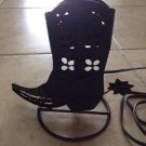 Cowboy Boot Metal Lamp Base