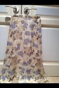 Long Floral Multicolored Print Floor Length Skirt By John Roberts Size 6