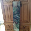 """Floral Garden Bench Wall Hanging by Lena Approximately 3Ft 10"""" X 10"""""""