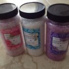 set of 3 bath salts:17.6-oz. each jasmine, rose, lavender bath soak Sels de Bain
