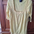Women's yellow top with crocheted detail Size Large by Volcom