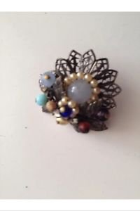 Set of 2: 1940's Vintage Jewelry Floral Pin