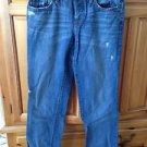 Women's distressed Boyfriend blue jeans by ann taylor loft Size 2