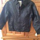 original Arizona jean company black jacket faux leather size medium (10-12)