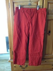 Women's rust colored cropped pants size 1 by Hurley