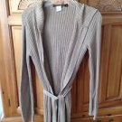 women's belted & hooded long sweater by Rampage Size small