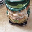 large decorative ceramic leprechaun mug