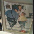 norman Rockwell artists print framed