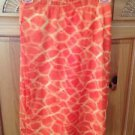 women's skirt orange & yellow by Rave CIty size extra small beautiful condition