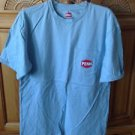 light blue shirt with fish motif size medium by penn